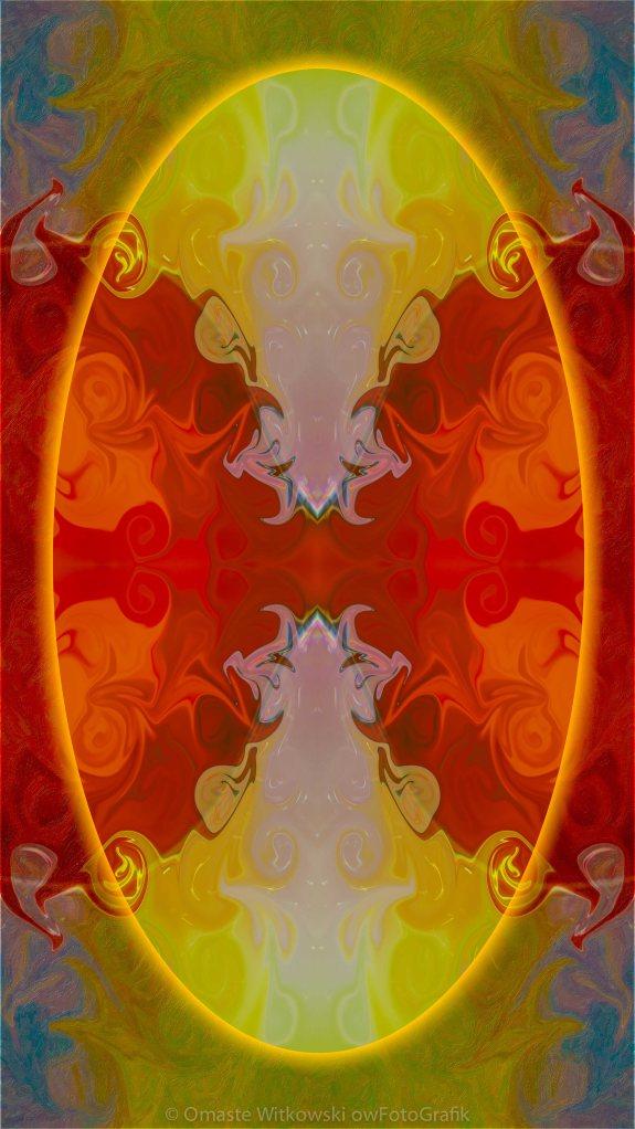 Circles Making Love Abstract Circular Artwork by Omaste Witkowski owFotoGrafik