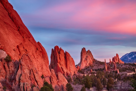 Garden of the Gods Sunset View