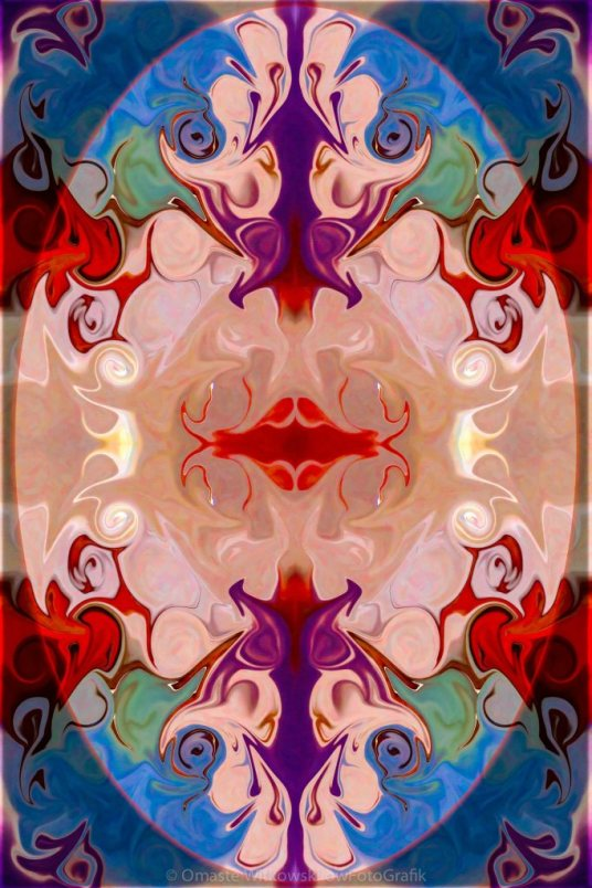 Drenched In Awareness Abstract Healing Artwork by Omaste Witkowski