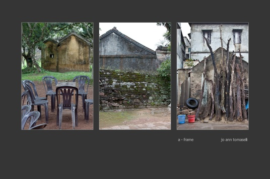 'a - frame' Triptych Image Art 3 images of Vietnam a-framed structures combined to make a beautiful tryptic