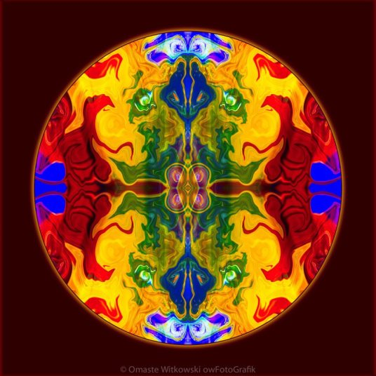 Rainbow Revelations Abstract Mandala Artwork by Omaste Witkowski owFotoGrafik.com