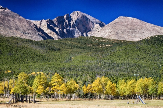 Longs Peak a Colorado Playground Art Print