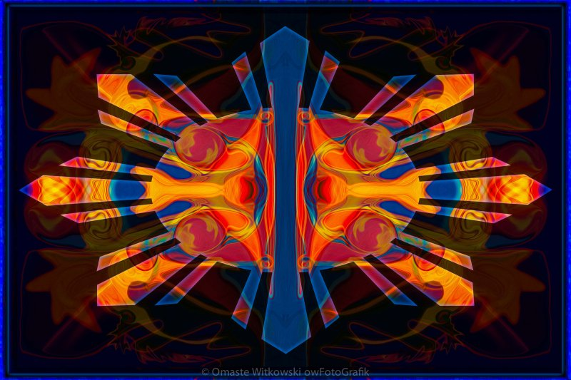 Marking Time Into Space Abstract Spiritual Artwork Omaste Witkowski owFotoGrafik.com