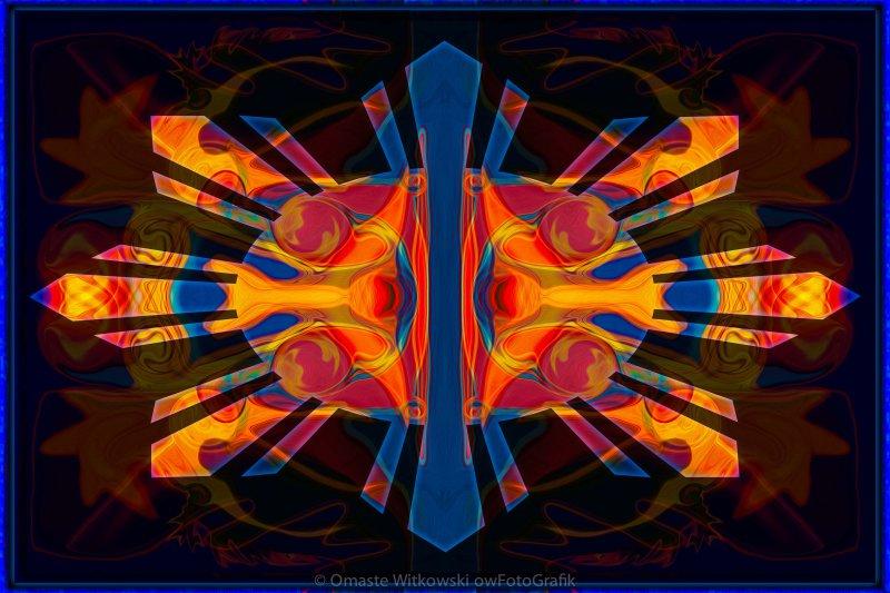 Marking Time Into Space Abstract Spiritual Artwork Omaste Witkowski owFotoGrafik.com
