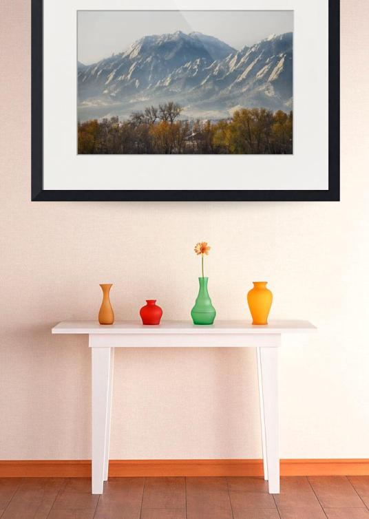 Boulder Colorado Flatirons Country Fall View Art Print