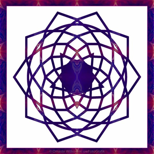 Passionate Purple Prayers Abstract Chakra Art by Omaste Witkowski owFotoGrafik.com