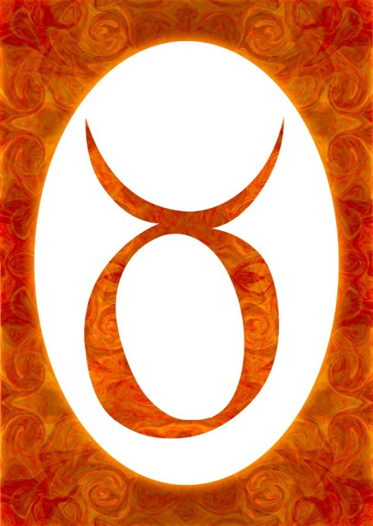Taurus and Sacral Chakra  Abstract Spiritual Artwork by Omaste Witkowski