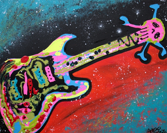 Space Guitar by Laura Barbosa - display