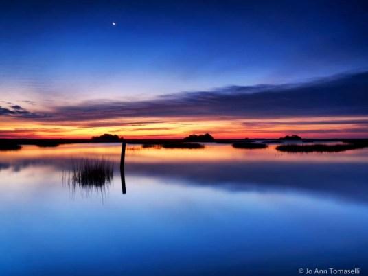 Blue hour dawn long exposure art photo