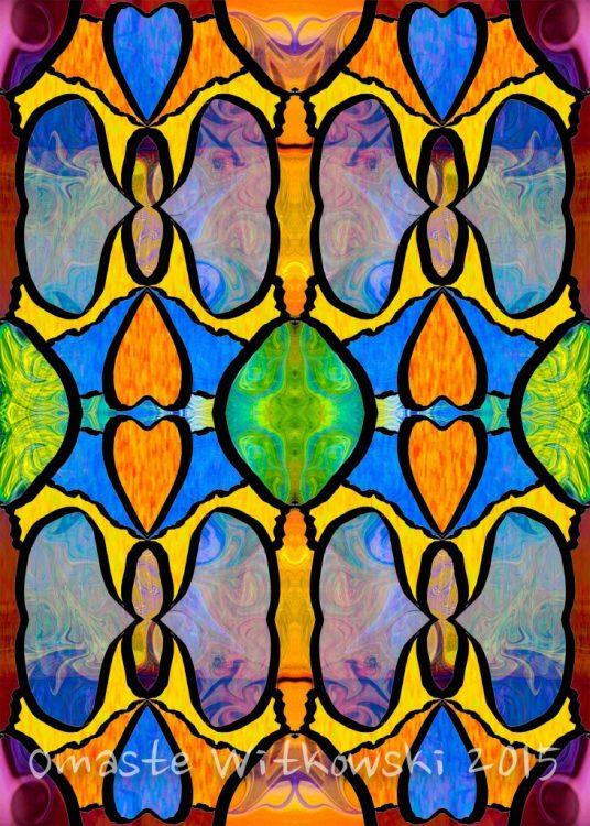 Loving Beauty In Chaos Abstract Fabric Art by Omaste Witkowski owFotoGrafik ArtInBoise.com