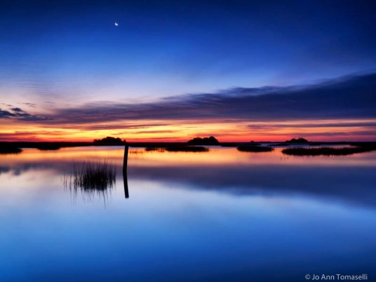 Blue hour dawn long exposure art photo