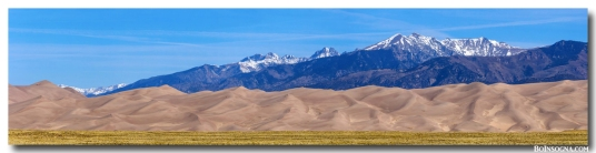Great Sand Dunes National Park And Preserve Panorama Art