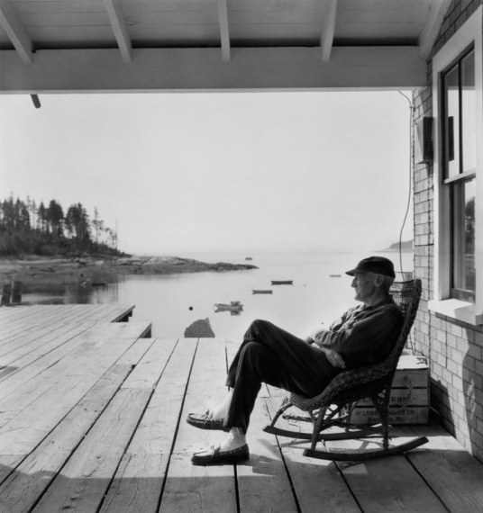 Old Man in Rocker, Maine, 1967